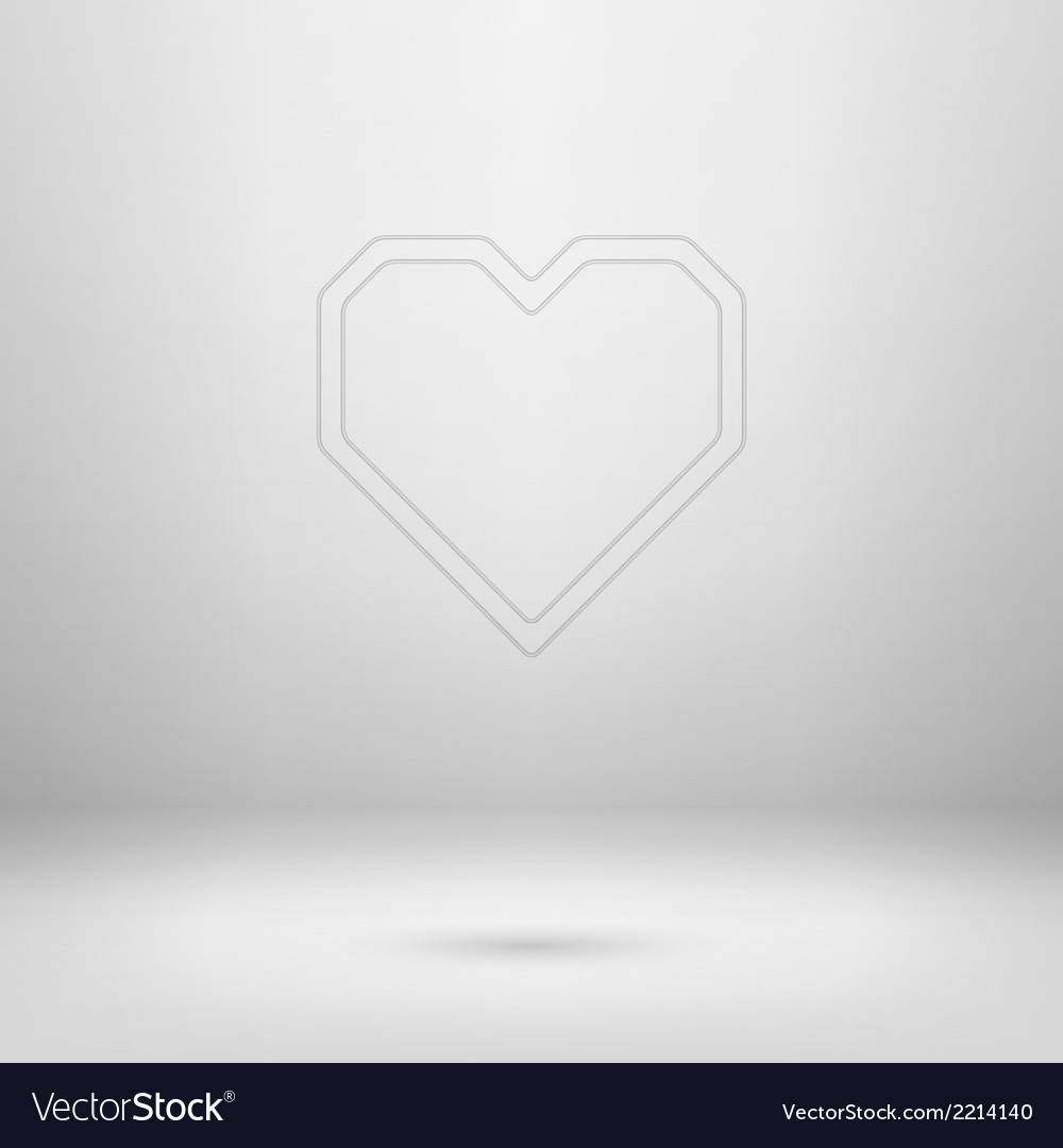 Icon in light studio room vector | Price: 1 Credit (USD $1)