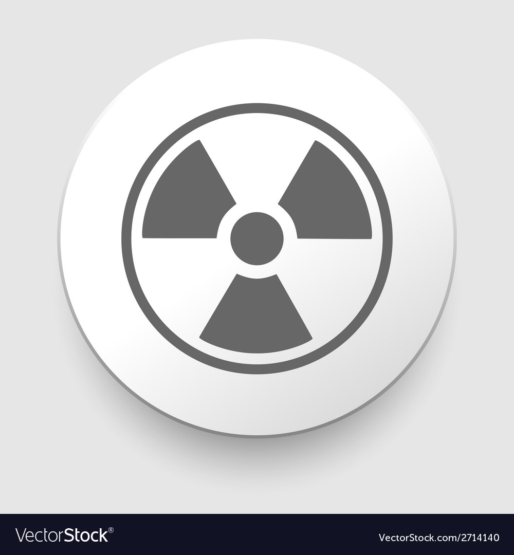 Nuclear symbol icon vector | Price: 1 Credit (USD $1)