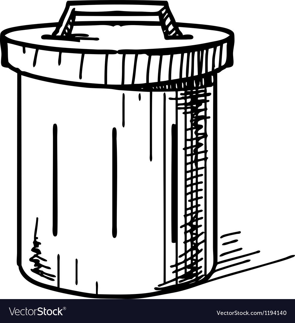 Outdoor trash bin icon vector | Price: 1 Credit (USD $1)