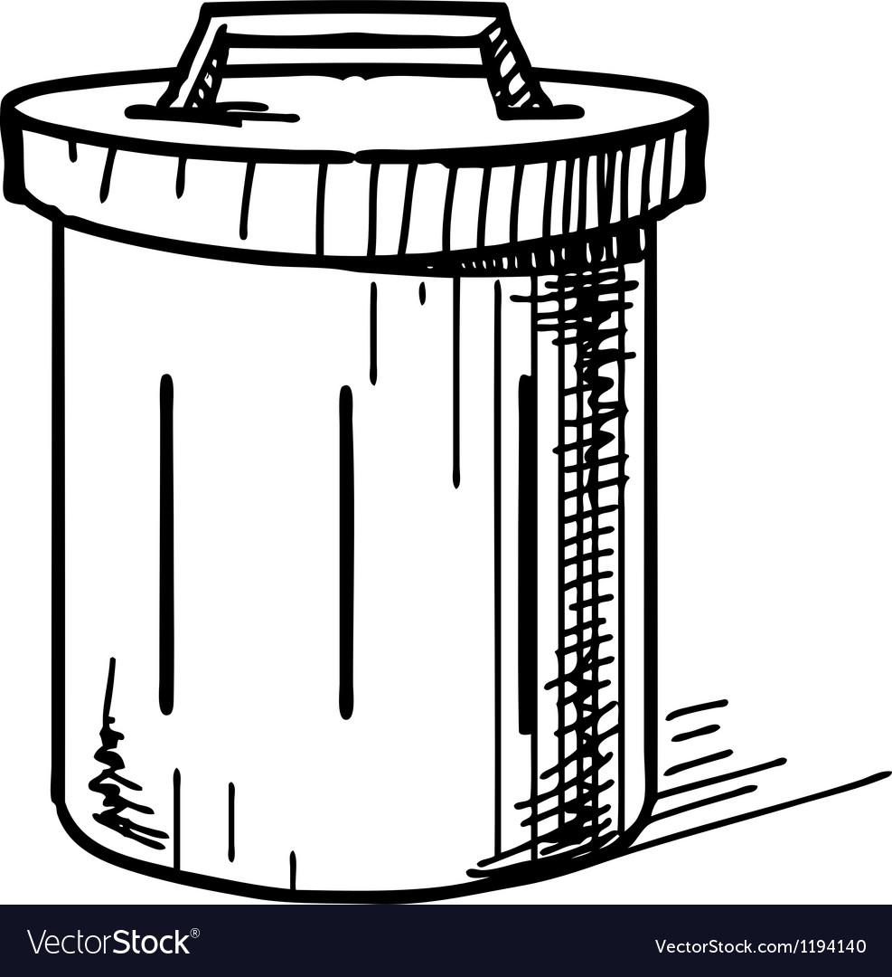 Outdoor trash bin icon vector | Price: 1 Credit (USD $1)
