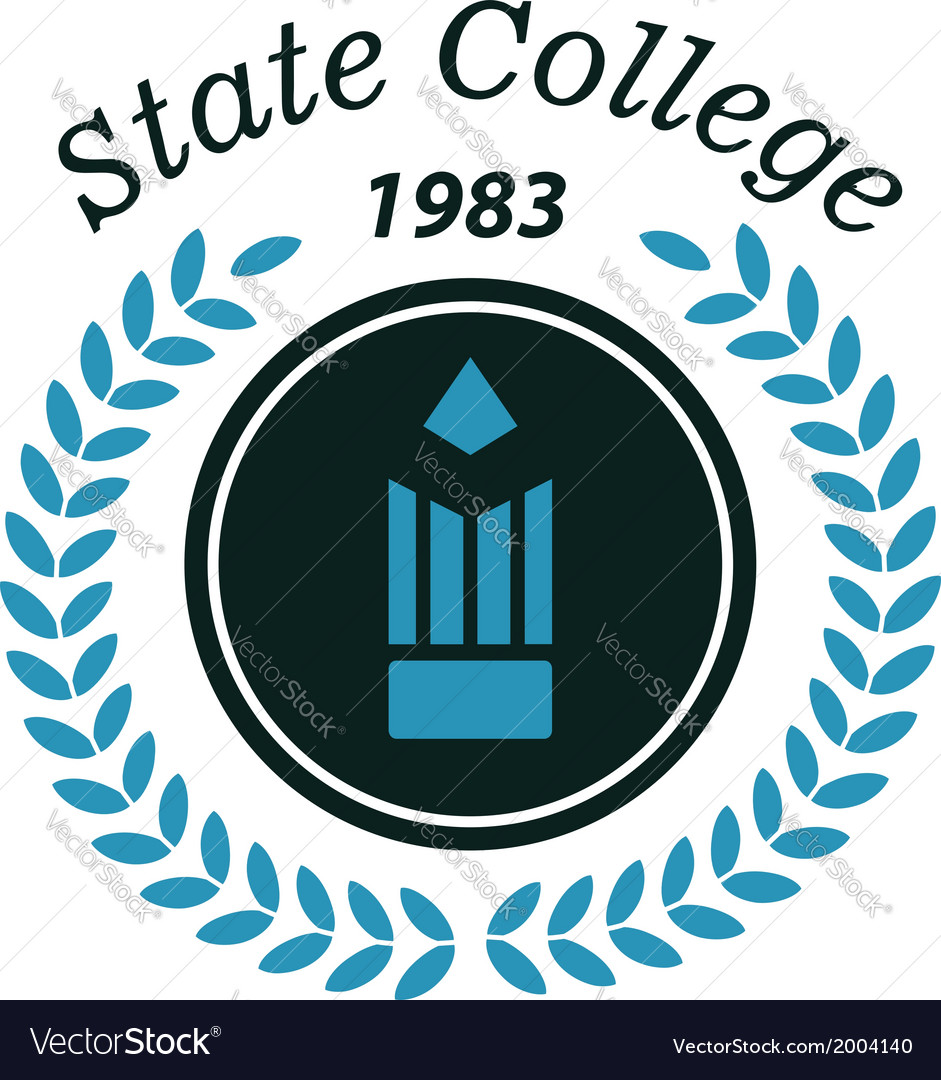 State college emblem vector   Price: 1 Credit (USD $1)