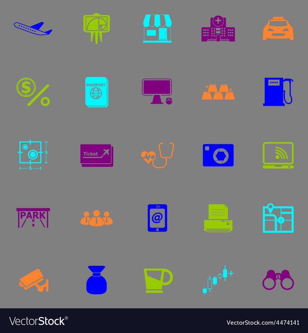Application fluorescent color icons vector | Price: 1 Credit (USD $1)