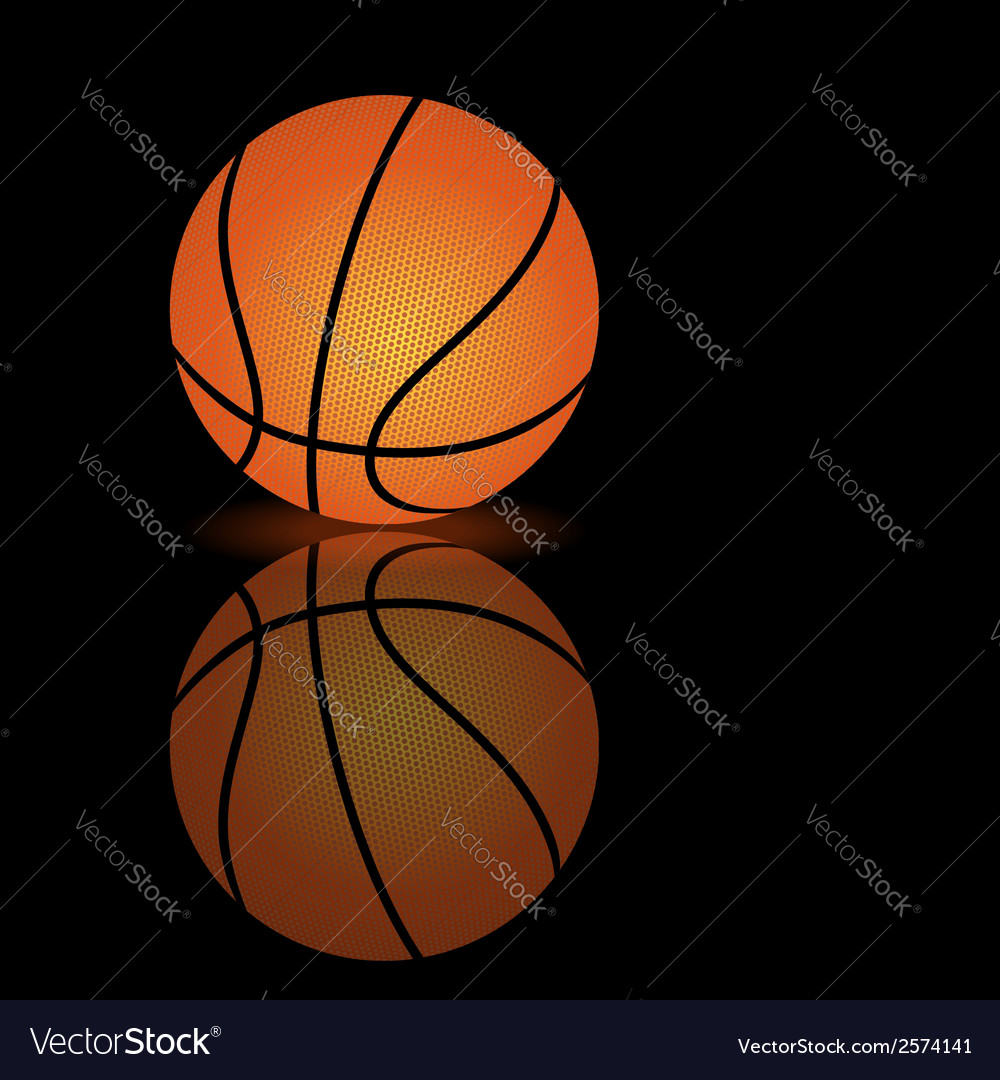 Basketball on a smooth surface vector | Price: 1 Credit (USD $1)