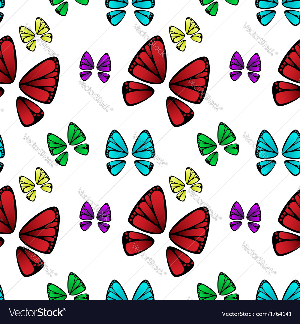 Butterfly colorful pattern vector | Price: 1 Credit (USD $1)