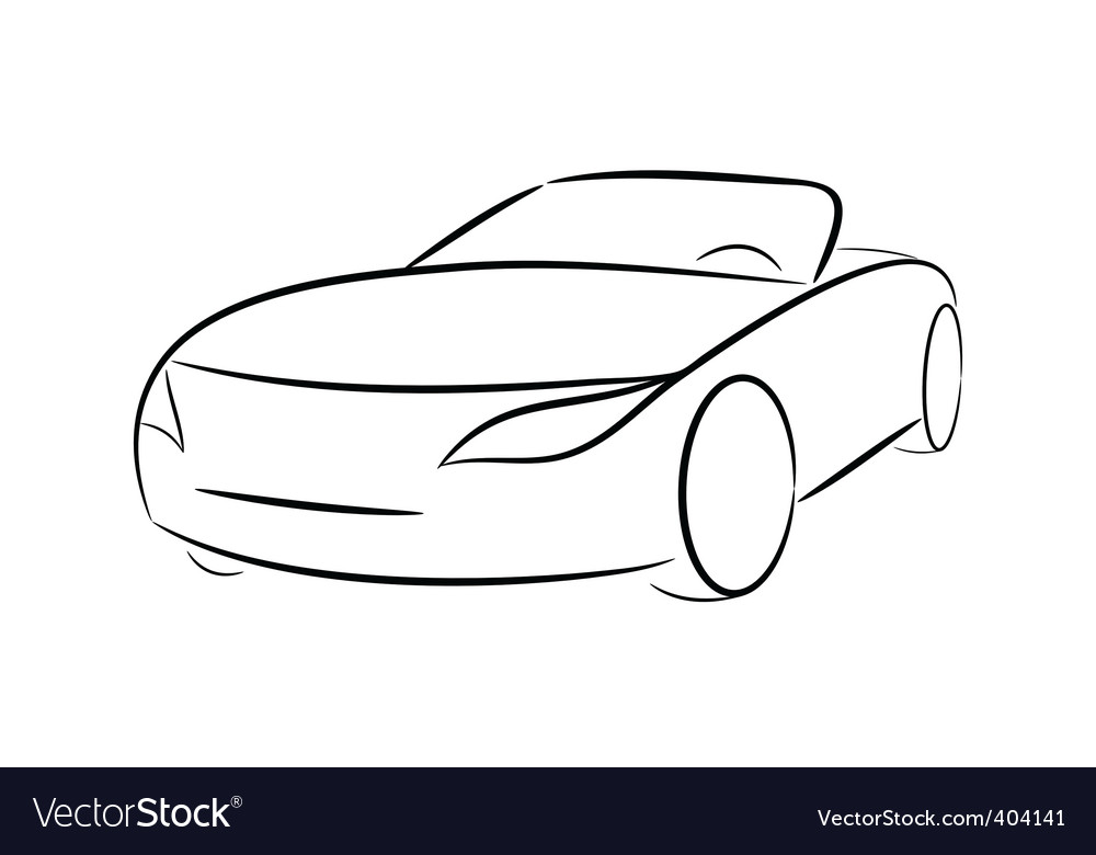 Cartoon silhouette of a car vector | Price: 1 Credit (USD $1)