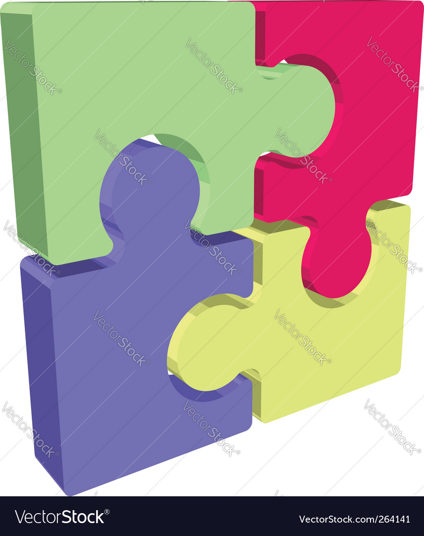 Jigsaw illustration vector | Price: 1 Credit (USD $1)