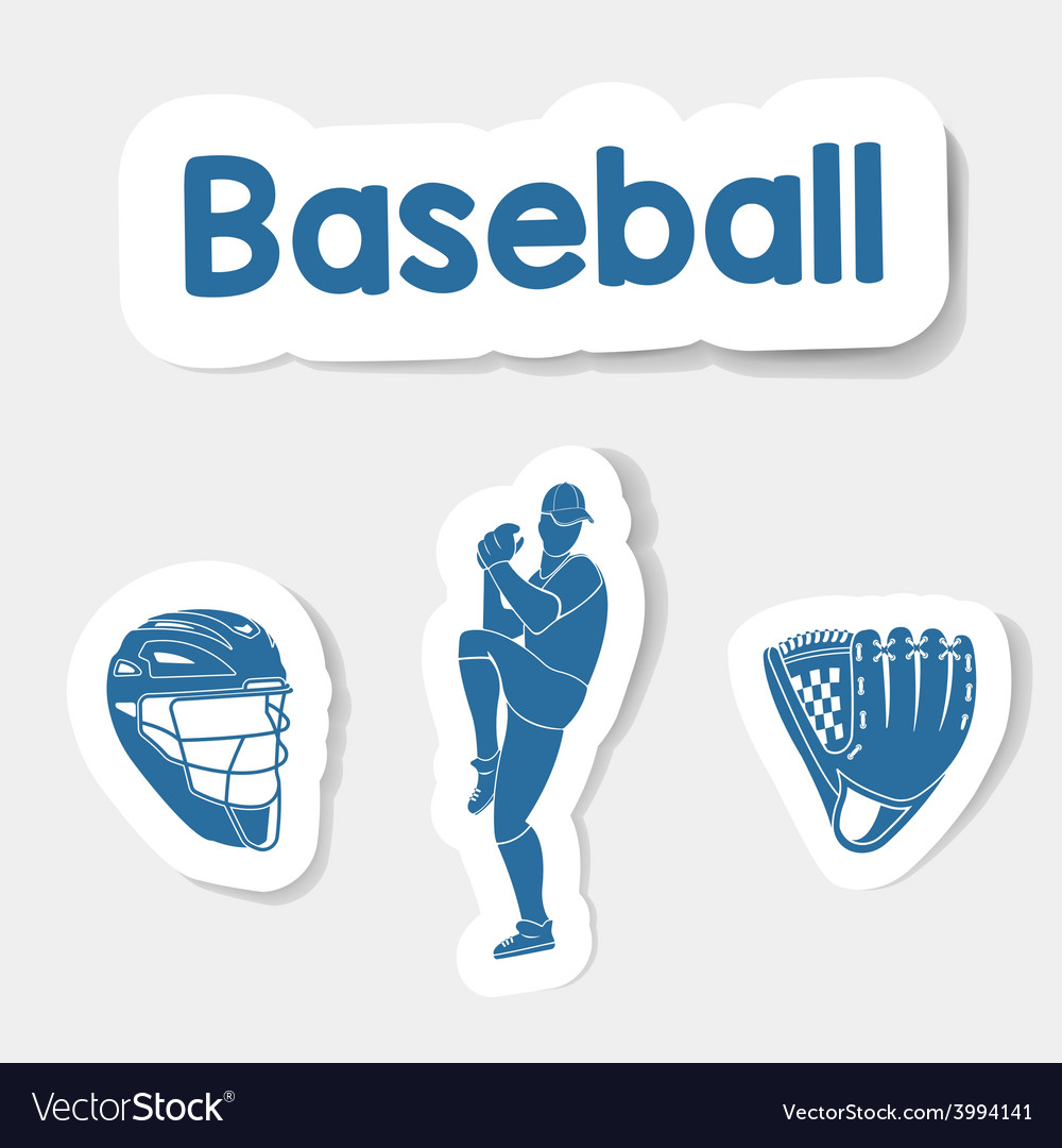 Logo baseball on a light background vector | Price: 1 Credit (USD $1)