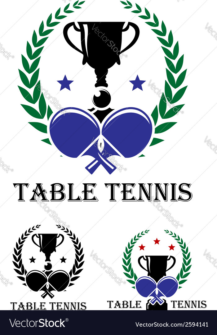 Table tennis emblem vector | Price: 1 Credit (USD $1)