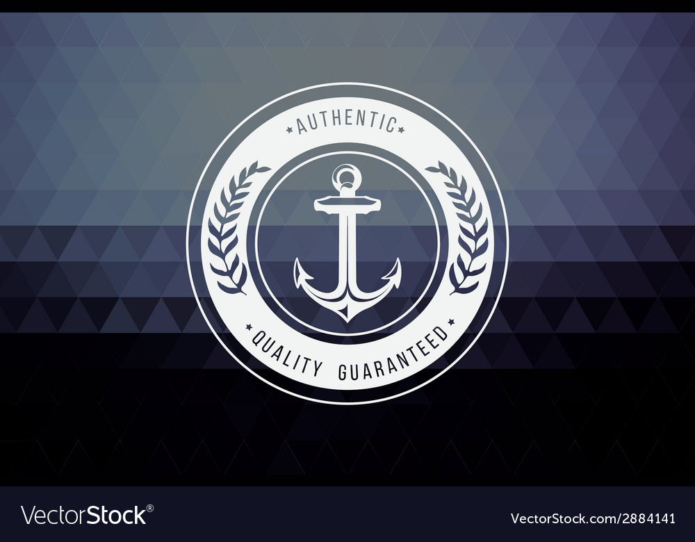 Vintage retro insignia stamp label badge vector   Price: 1 Credit (USD $1)