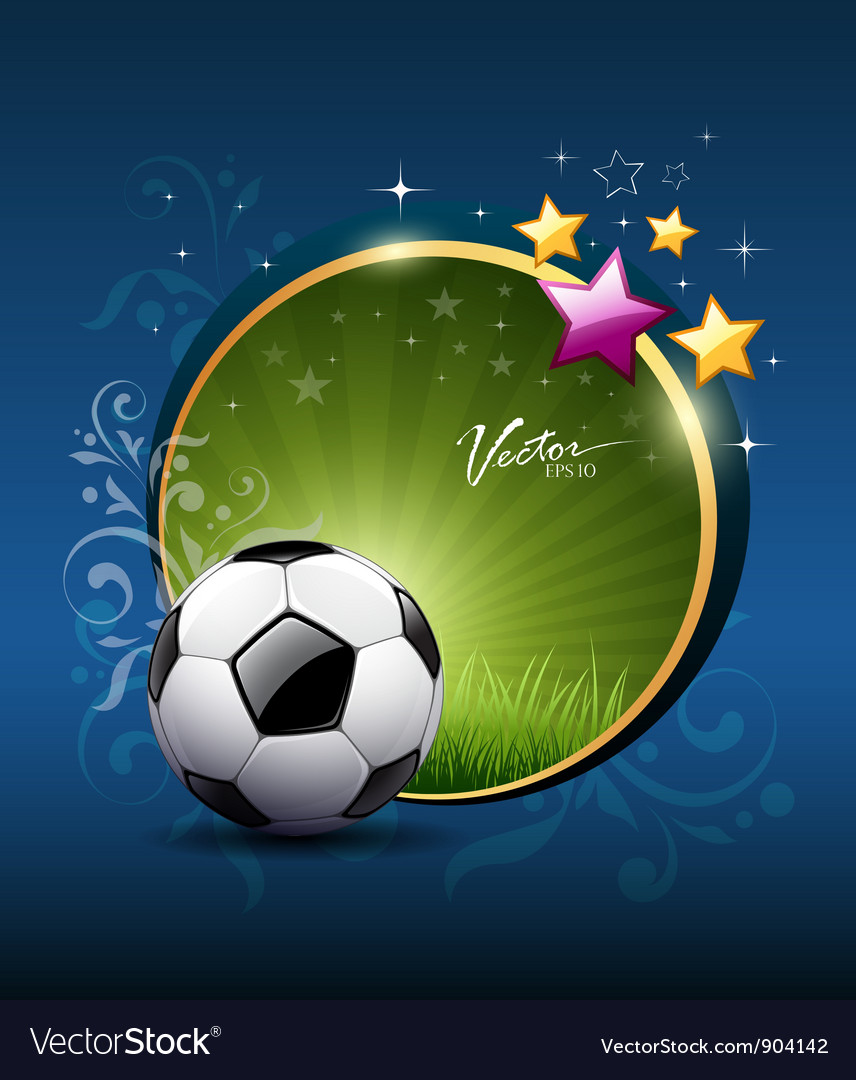 Artistic soccer ball design vector | Price: 3 Credit (USD $3)