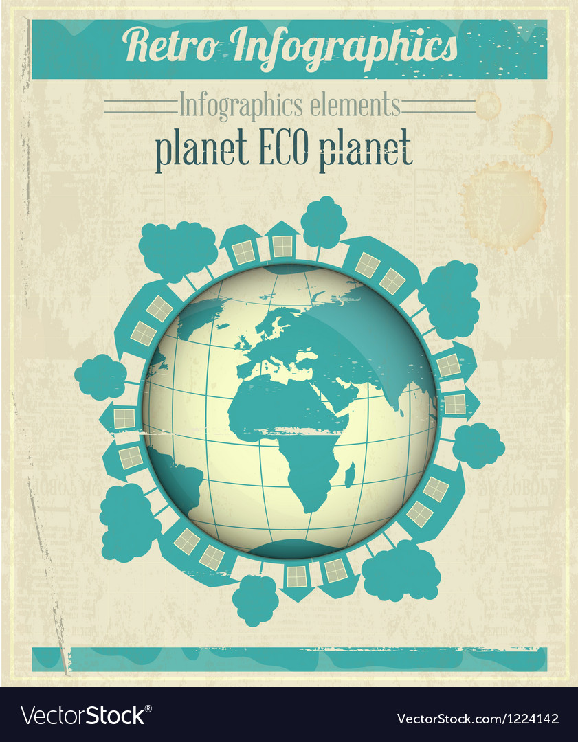 Eco planet concept vector | Price: 3 Credit (USD $3)
