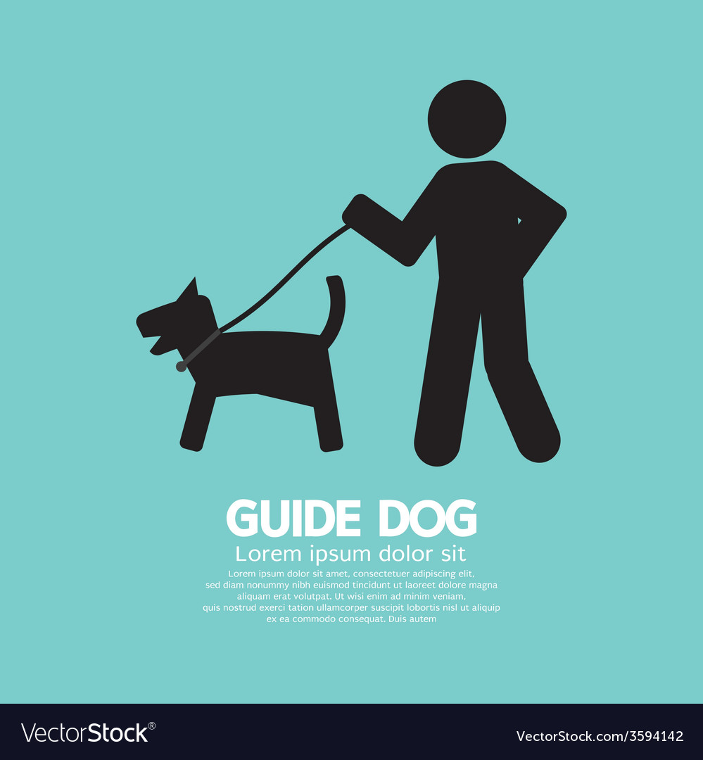 Guide dog graphic symbol vector | Price: 1 Credit (USD $1)