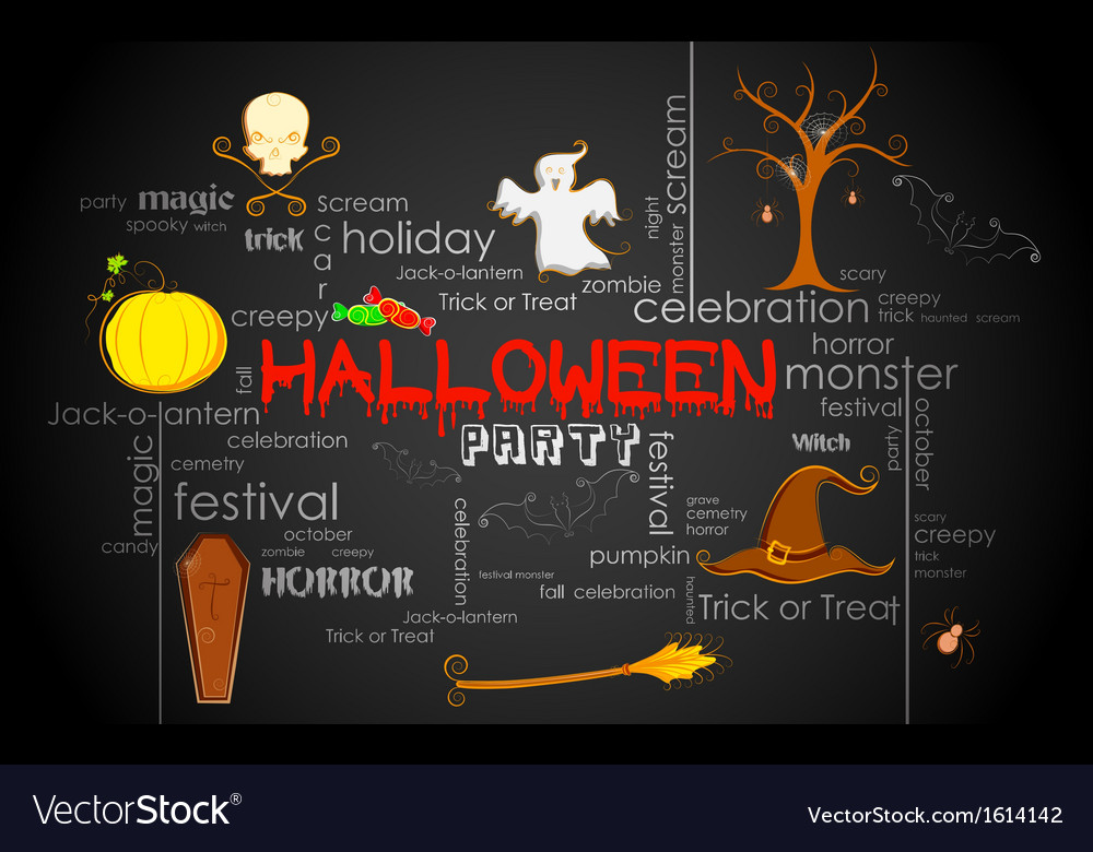 Halloween typography vector | Price: 1 Credit (USD $1)