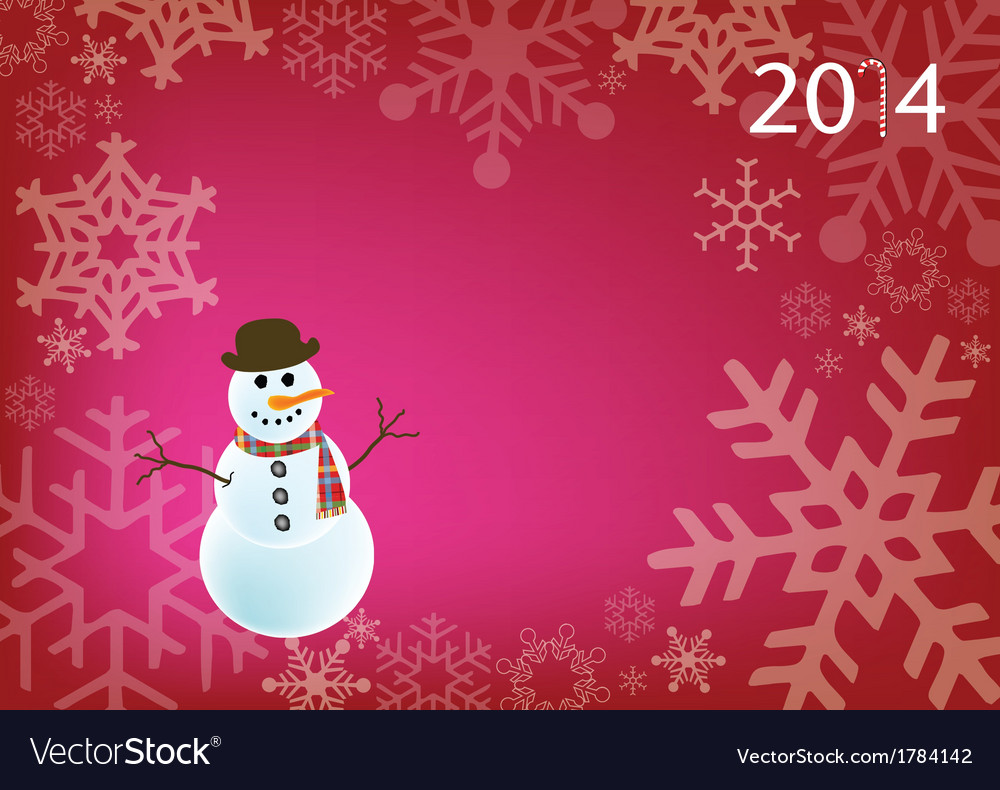 Holiday snowman vector | Price: 1 Credit (USD $1)
