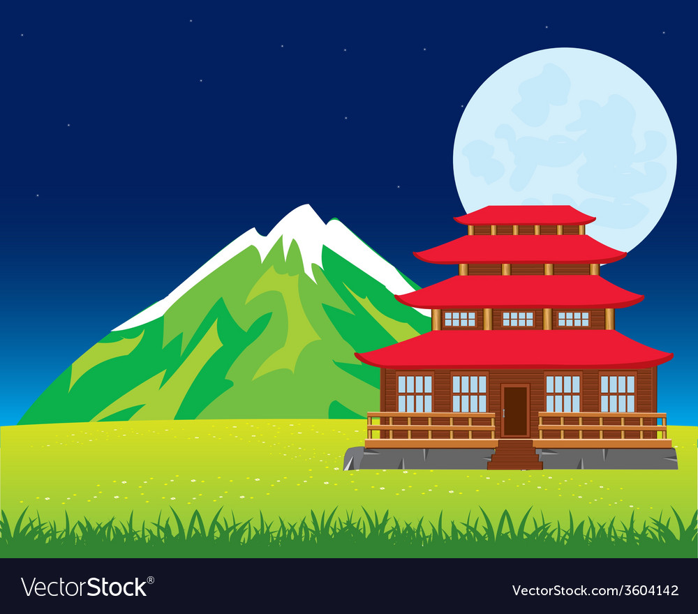 House in japan vector | Price: 1 Credit (USD $1)