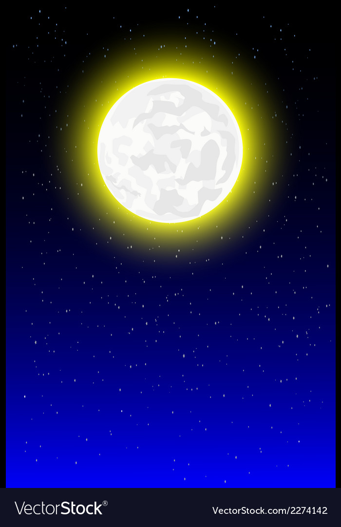 Night background with moonlight vector | Price: 1 Credit (USD $1)