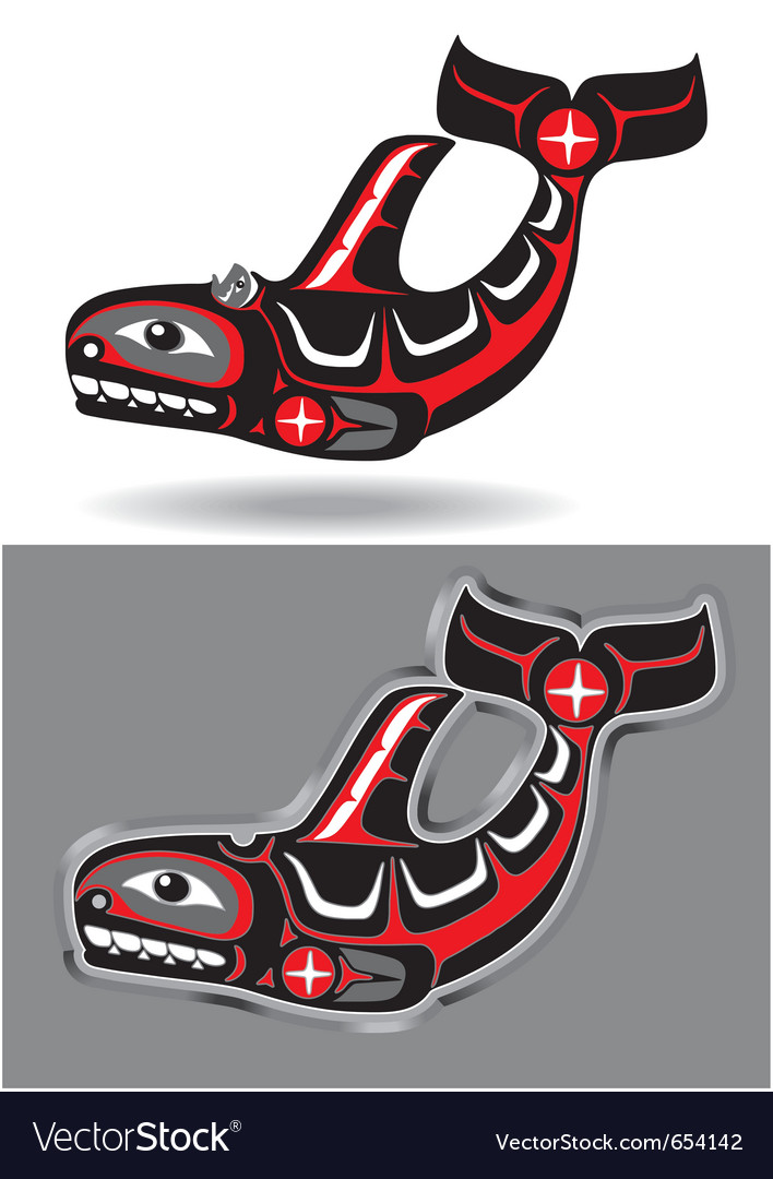 Orca - killer whale - in native art style vector | Price: 1 Credit (USD $1)