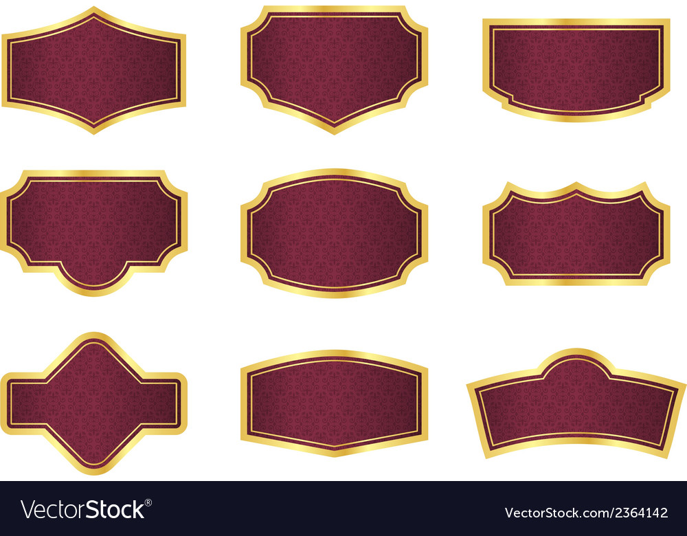 Red vine labels with vintage texture vector | Price: 1 Credit (USD $1)