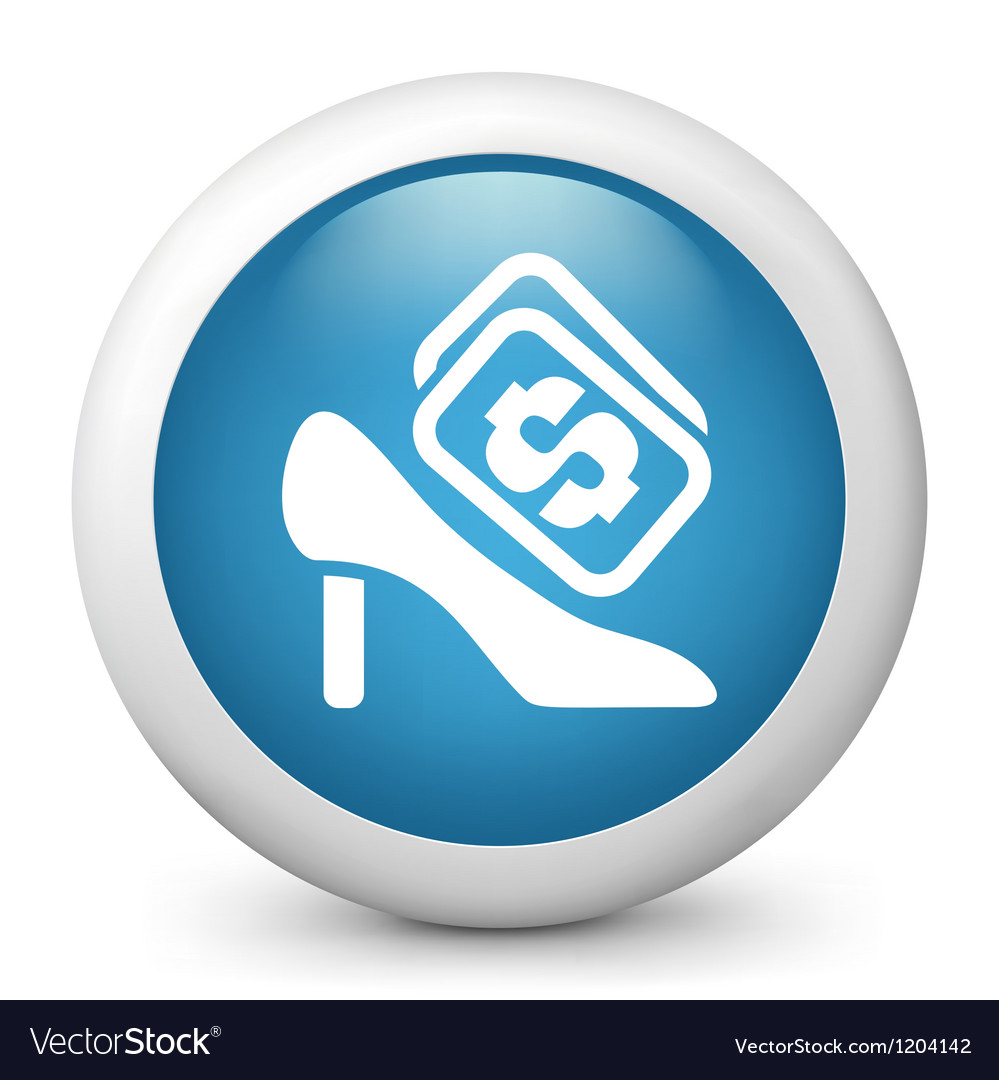 Stiletto buying glossy icon vector | Price: 1 Credit (USD $1)
