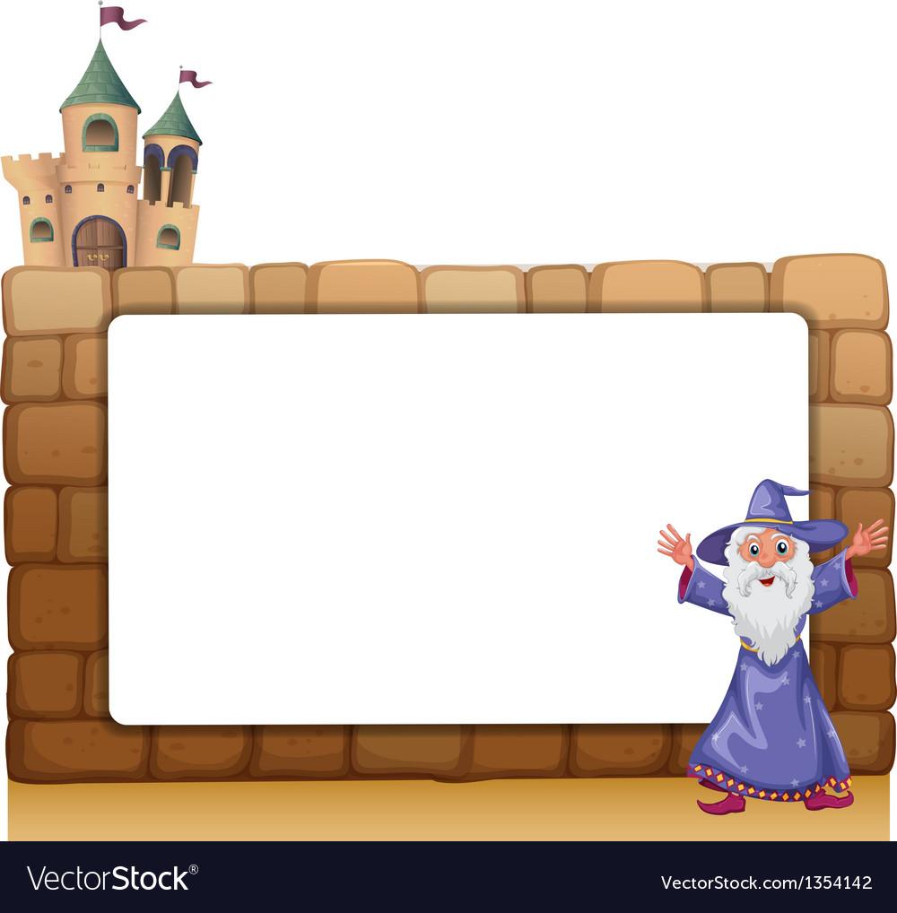 Wizard castle frame vector | Price: 1 Credit (USD $1)