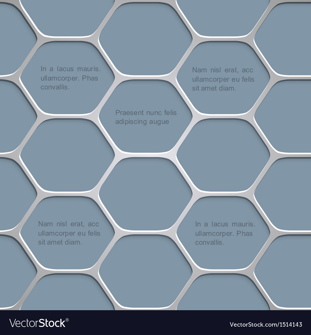 Abstract honeycomb pattern background vector | Price: 1 Credit (USD $1)