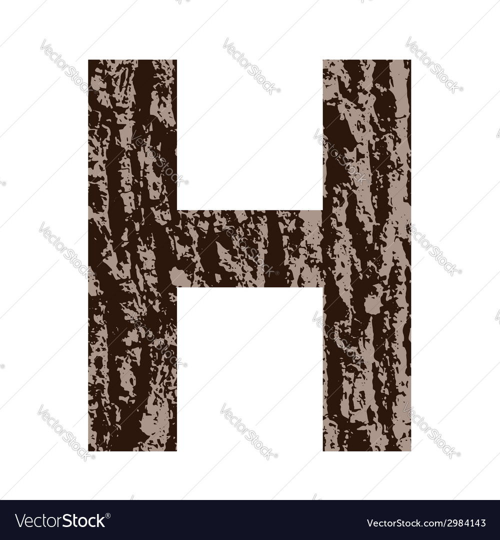 Bark letter h vector | Price: 1 Credit (USD $1)