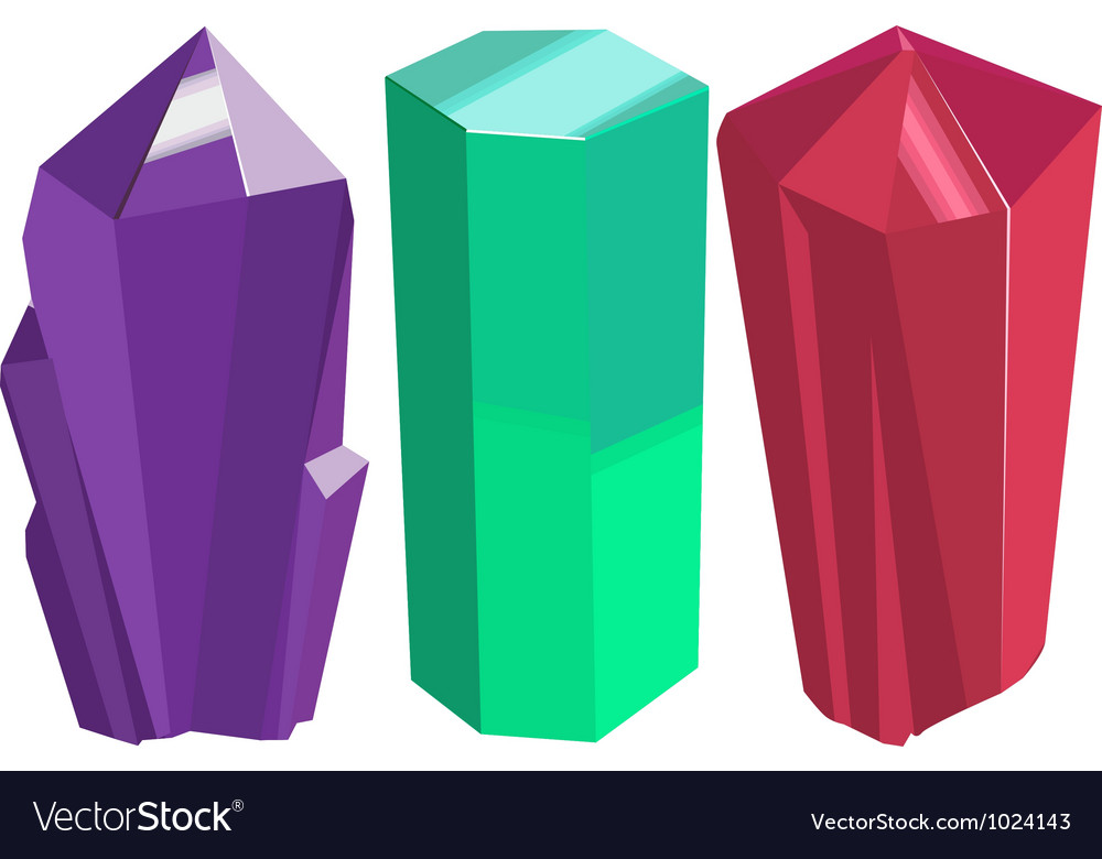 Crystals vector | Price: 1 Credit (USD $1)