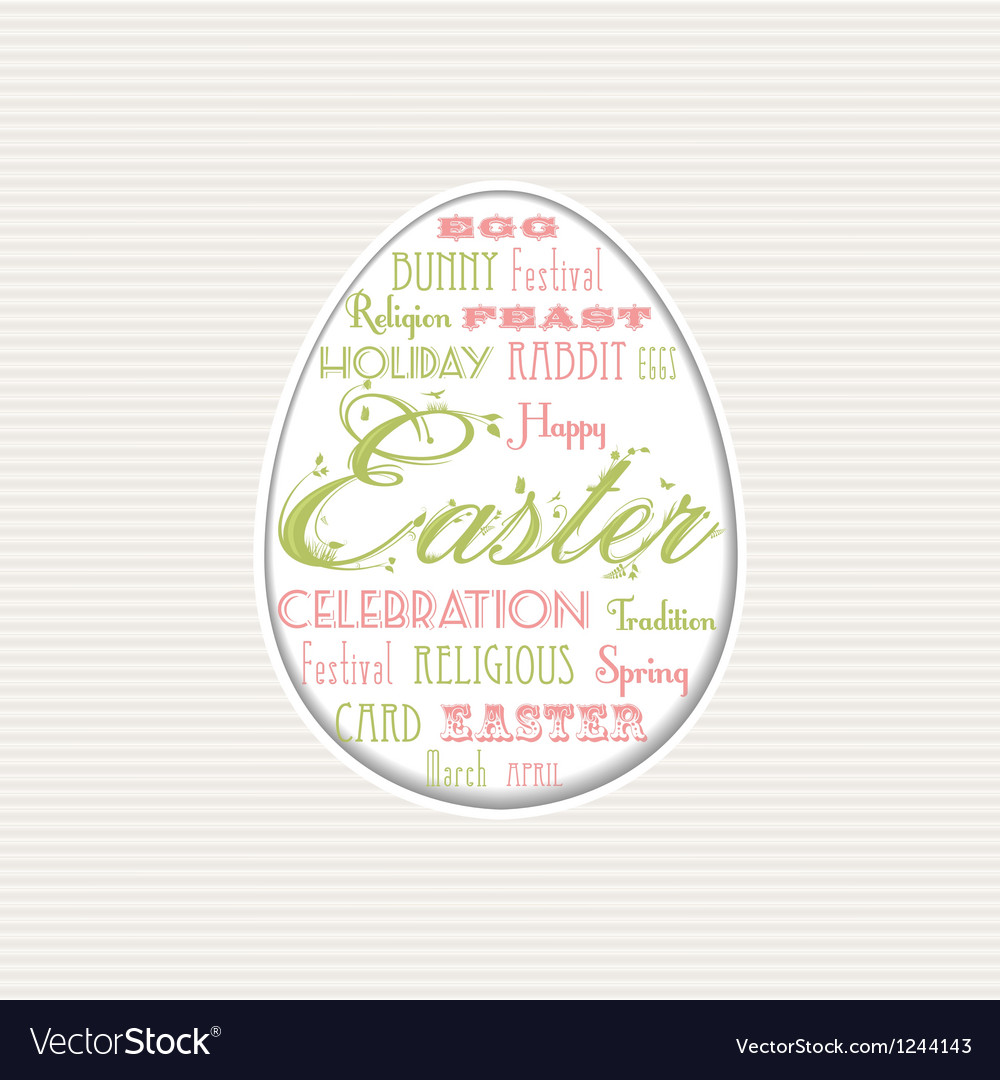 Easter egg typographical background vector   Price: 1 Credit (USD $1)