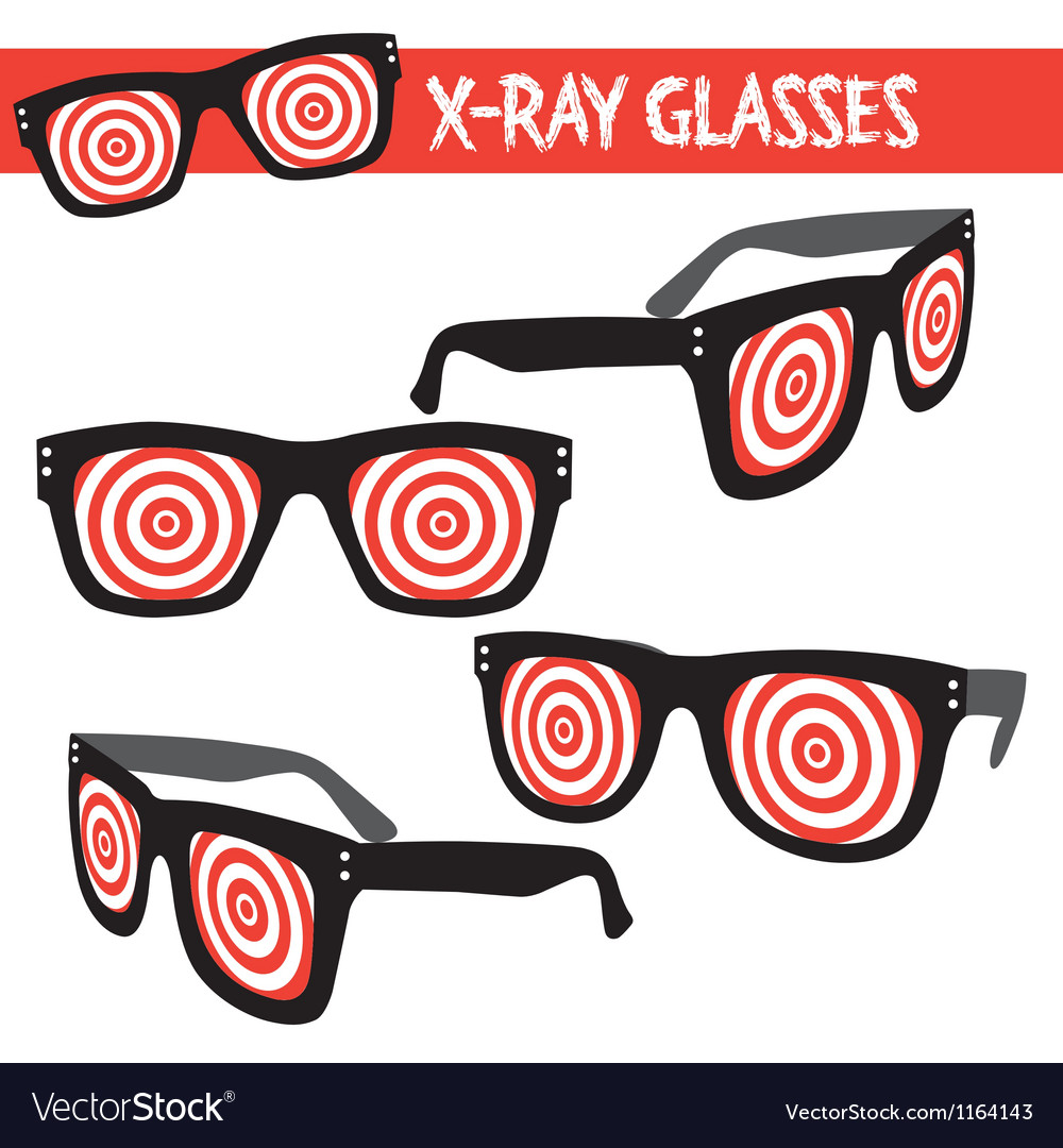 Graphic set of xray glasses vector | Price: 1 Credit (USD $1)