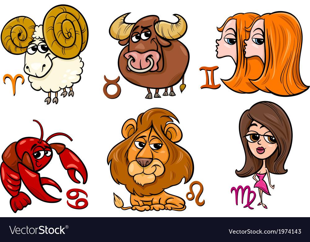 Horoscope zodiac signs set vector | Price: 1 Credit (USD $1)