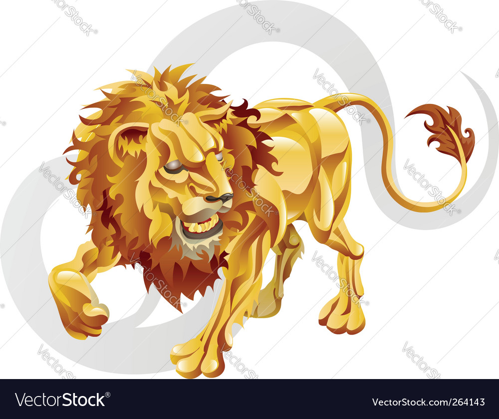 Leo the lion star sign vector | Price: 3 Credit (USD $3)
