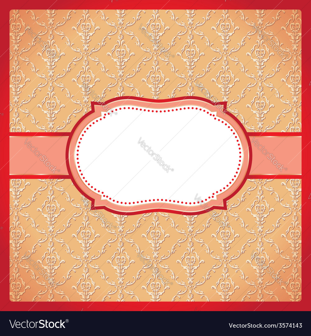 Red dotted ornamental frame vector | Price: 1 Credit (USD $1)