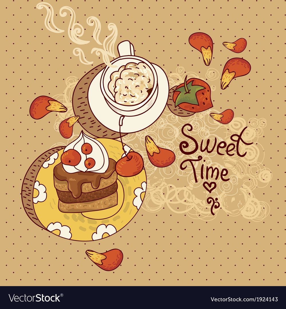 Sweet time vector | Price: 1 Credit (USD $1)