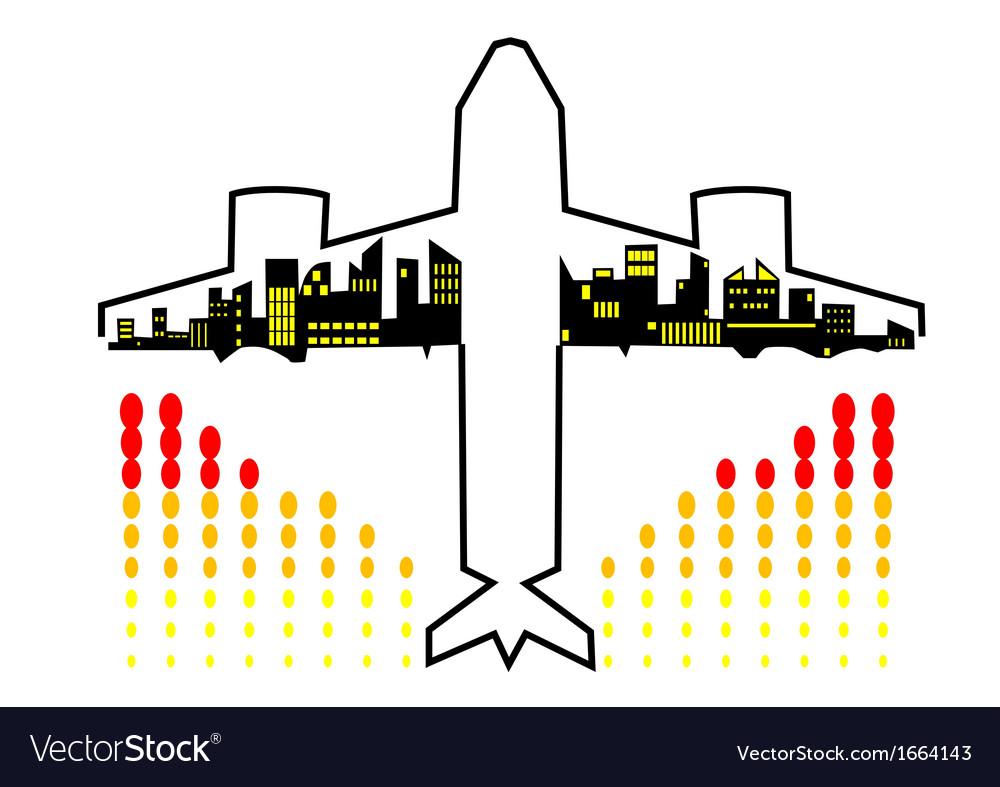 Travel by plane vector | Price: 1 Credit (USD $1)
