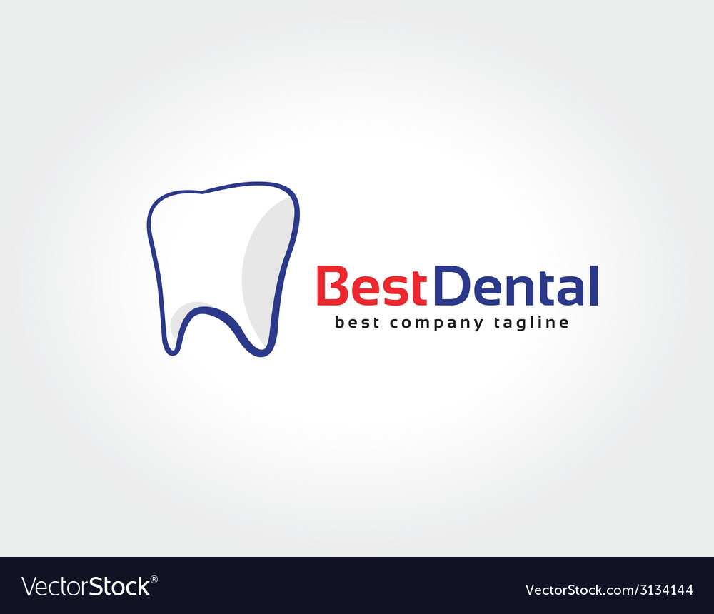 Abstract dental tooth logo icon concept logotype vector | Price: 1 Credit (USD $1)