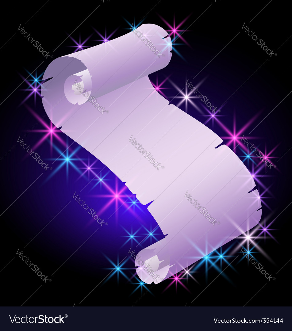 Abstract parchment scroll vector | Price: 1 Credit (USD $1)