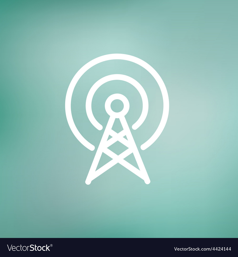 Antenna thin line icon vector | Price: 1 Credit (USD $1)
