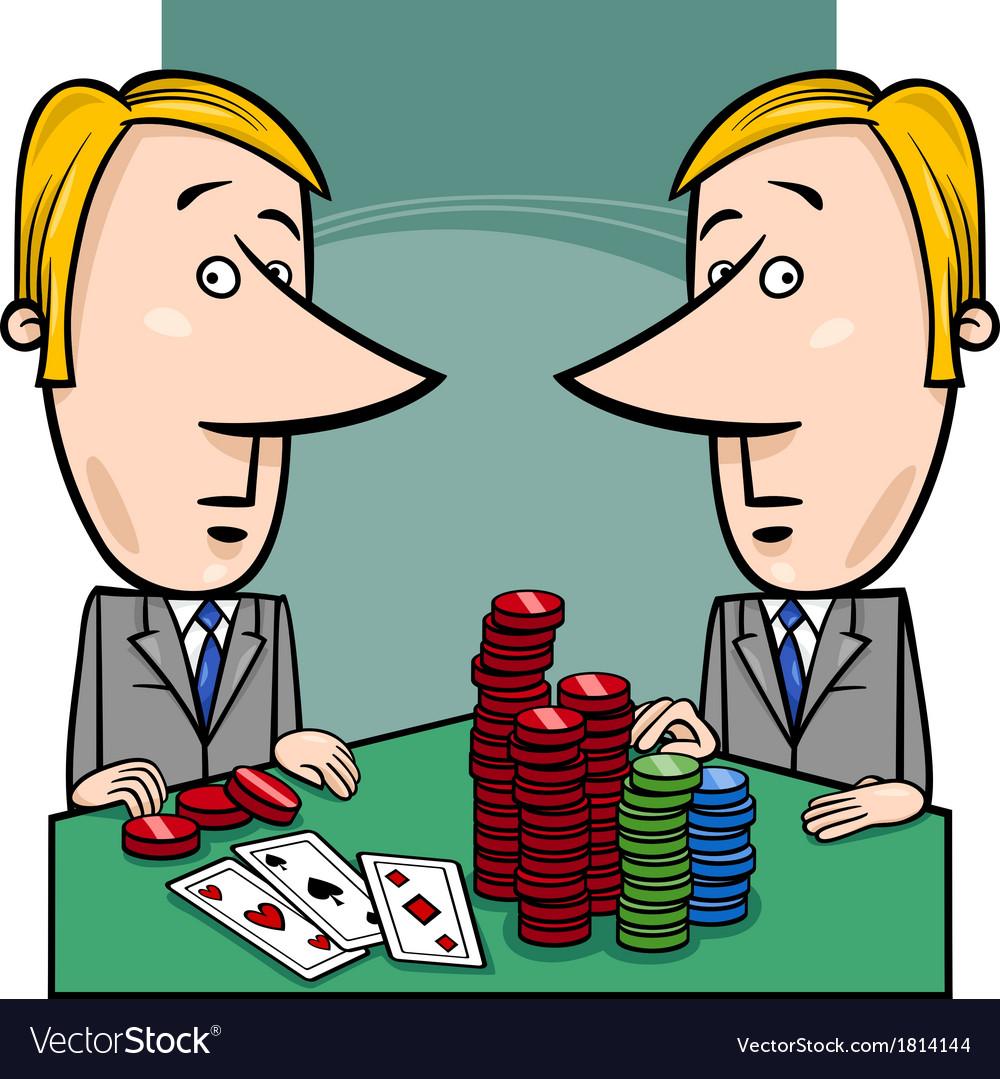 Businessmen playing poker cartoon vector   Price: 1 Credit (USD $1)
