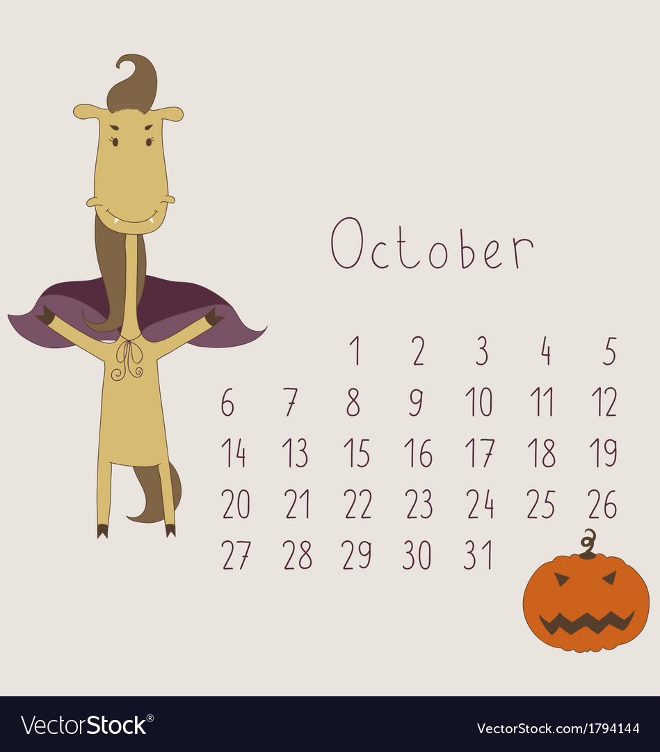 Calendar for october 2014 vector | Price: 1 Credit (USD $1)
