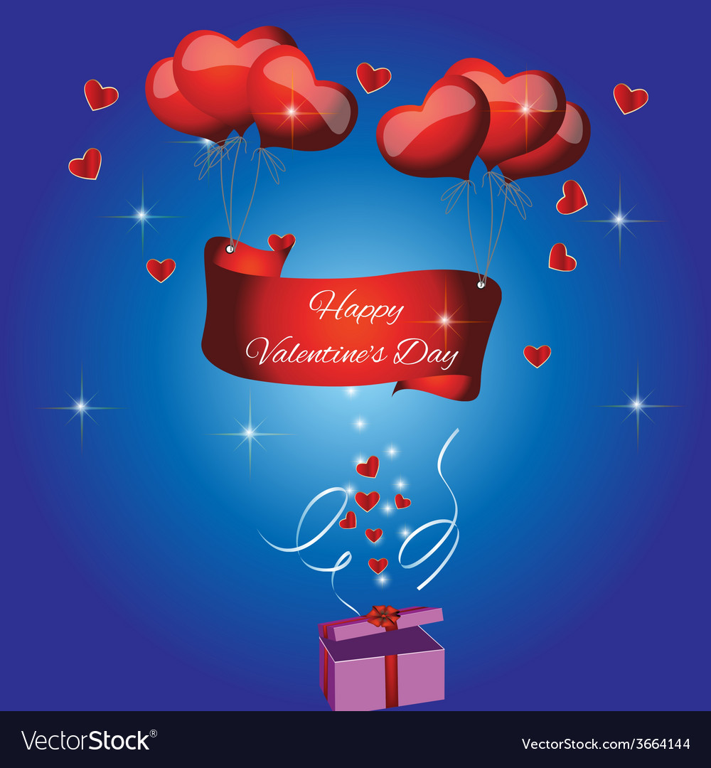 Card with the text happy valentines day vector | Price: 1 Credit (USD $1)