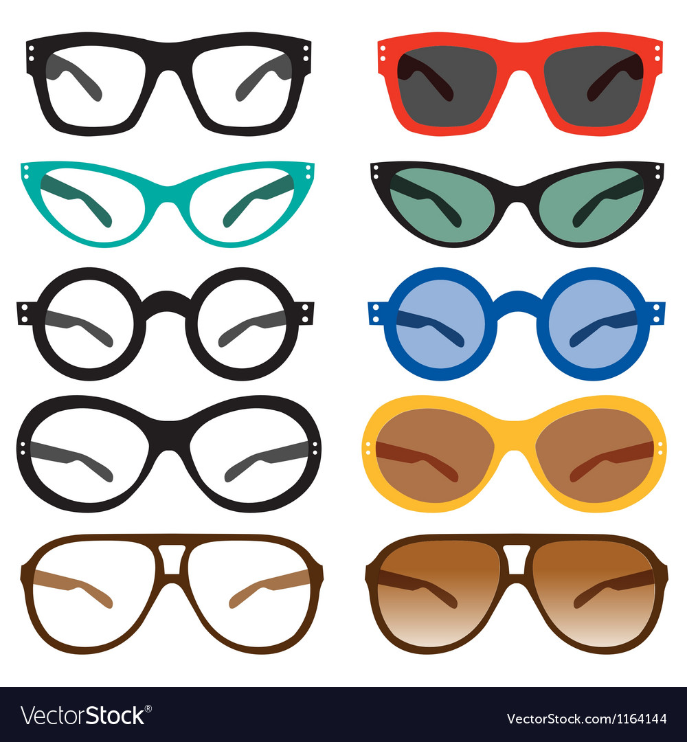 Geek nerd glasses sunglasses vector | Price: 1 Credit (USD $1)