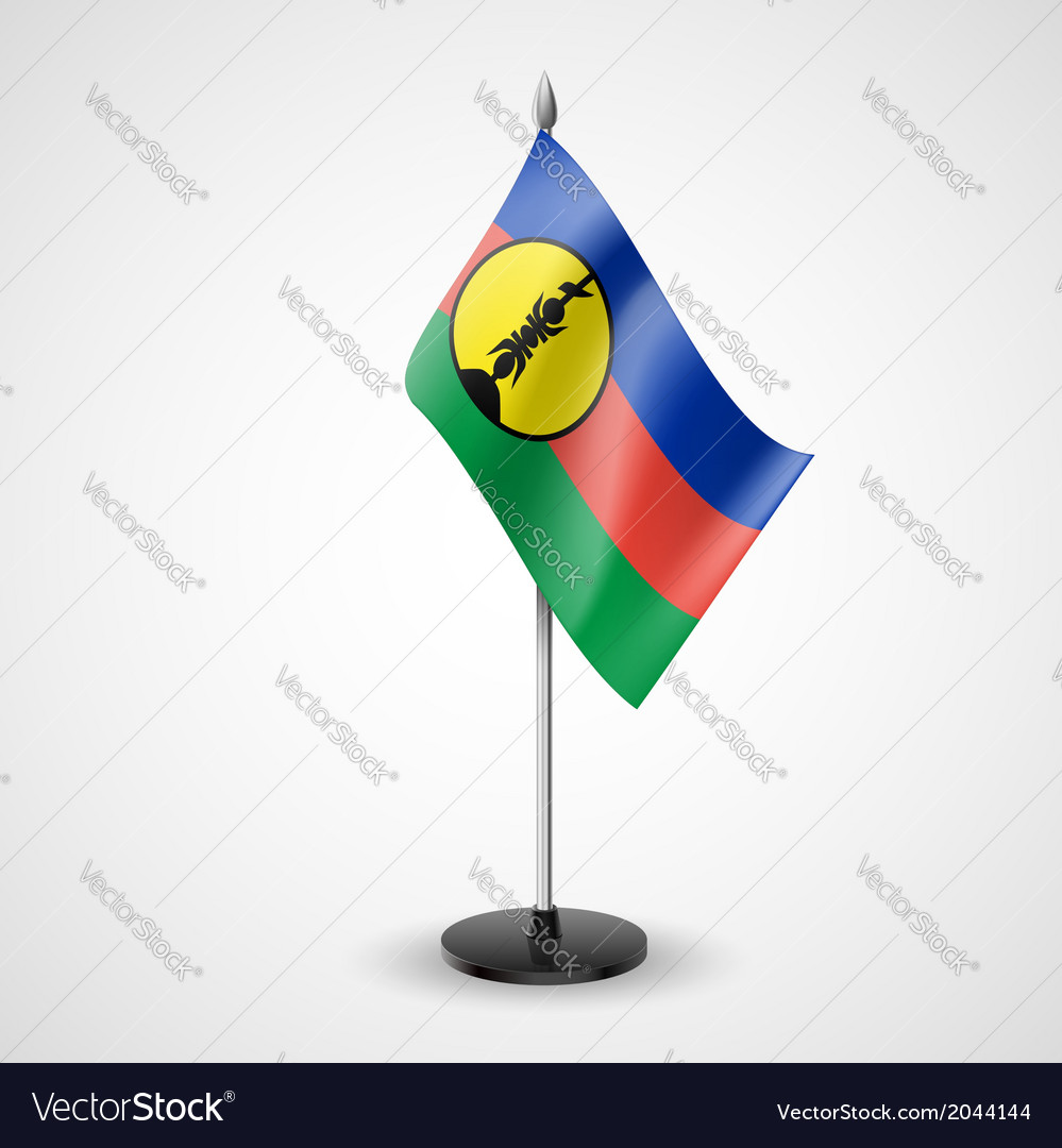 Table flag of new caledonia vector | Price: 1 Credit (USD $1)
