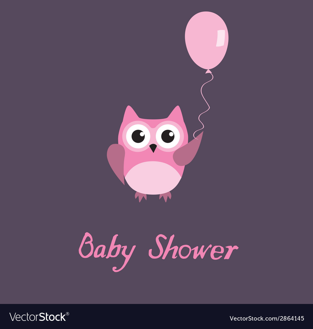 Baby shower owl vector | Price: 1 Credit (USD $1)