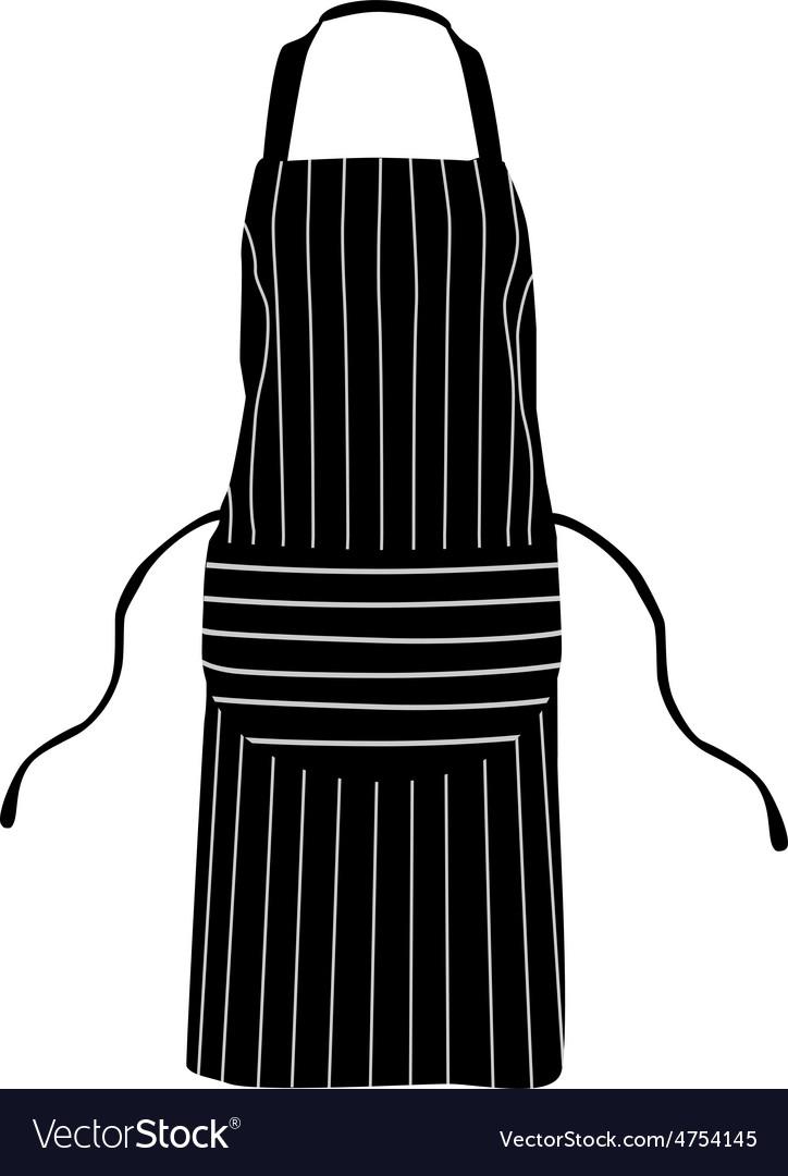 Black striped apron vector | Price: 1 Credit (USD $1)