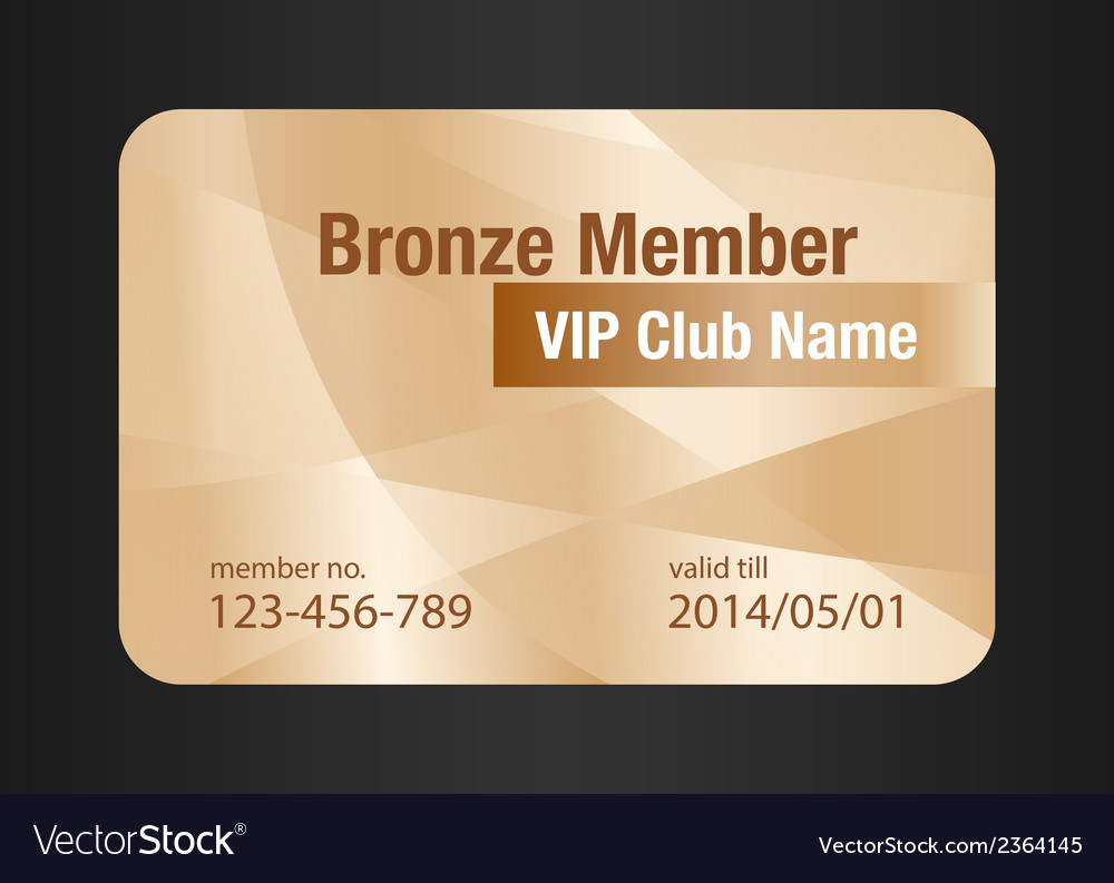 Bronze vip club card vector | Price: 1 Credit (USD $1)