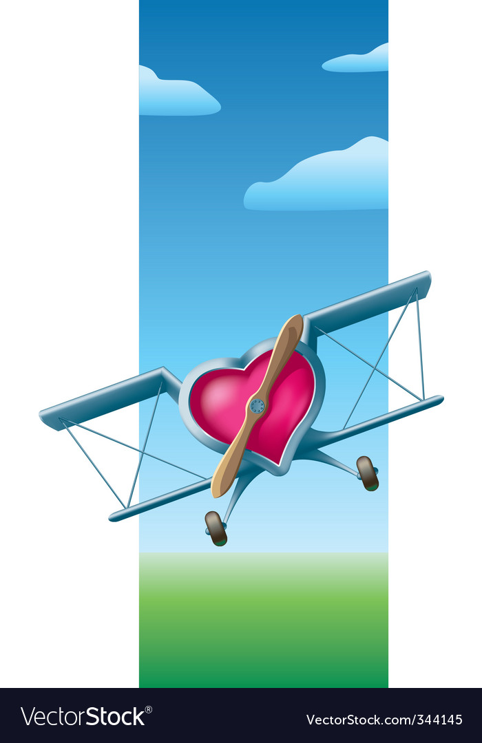 Flying valentine vector | Price: 3 Credit (USD $3)