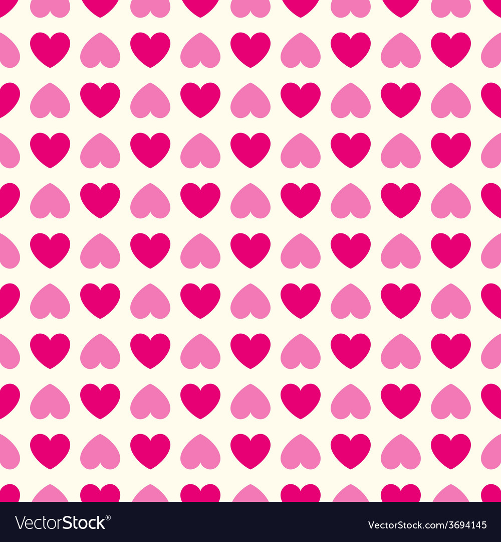 Heart shape seamless pattern pink and vector | Price: 1 Credit (USD $1)