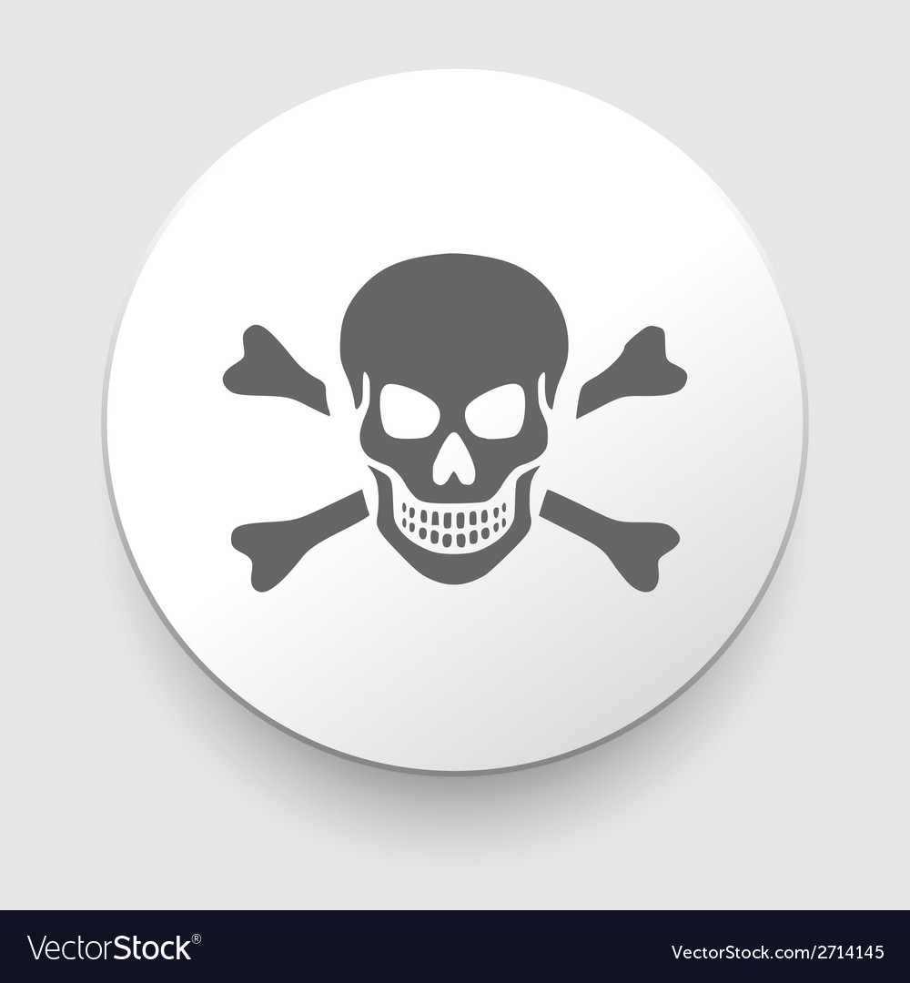 Skull and crossbones - a mark of the danger vector | Price: 1 Credit (USD $1)