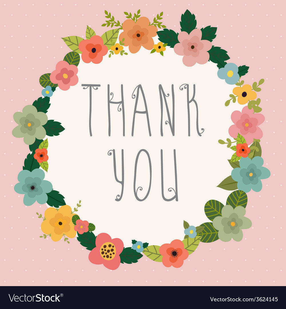 Thank you postcard vector | Price: 1 Credit (USD $1)