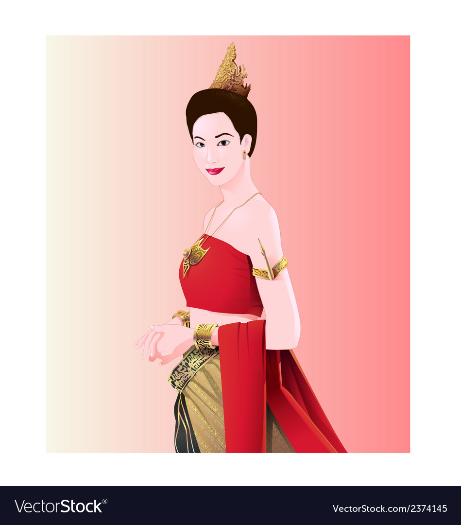 Woman thai style vector | Price: 1 Credit (USD $1)